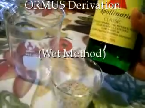 ORMUS, Is this the wet method? – Genuine Observations